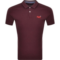 Superdry Classic Polo T Shirt Burgundy found on Bargain Bro UK from Mainline Menswear
