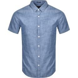 Superdry Loom Short Sleeved Shirt Blue found on Bargain Bro UK from Mainline Menswear