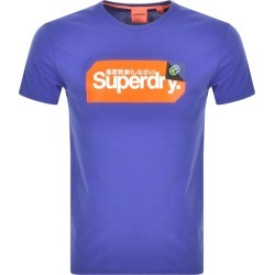 Superdry Core Logo Short Sleeved T Shirt Blue found on Bargain Bro UK from Mainline Menswear