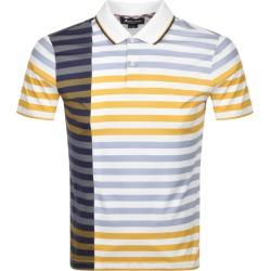 Aquascutum Northfleet Striped Polo T Shirt White found on MODAPINS from Mainline Menswear Australia for USD $143.22