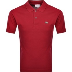 Lacoste Short Sleeved Polo T Shirt Red found on Bargain Bro UK from Mainline Menswear