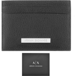 Armani Exchange Leather Card Holder Black found on Bargain Bro UK from Mainline Menswear