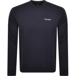 Armani Exchange Crew Neck Logo Sweatshirt Navy found on Bargain Bro UK from Mainline Menswear