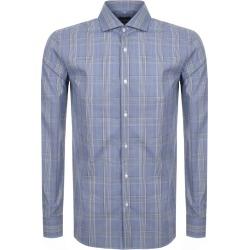 BOSS HUGO BOSS Long Sleeved Jason Shirt Blue found on Bargain Bro UK from Mainline Menswear