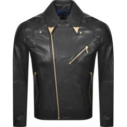 Versace Jeans Couture Leather Jacket Black found on Bargain Bro UK from Mainline Menswear