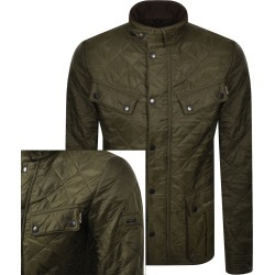 Barbour International Ariel Quilted Jacket Green found on Bargain Bro UK from Mainline Menswear