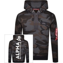 Alpha Industries Camouflage Back Print Hoodie Grey found on MODAPINS from Mainline Menswear Australia for USD $140.24