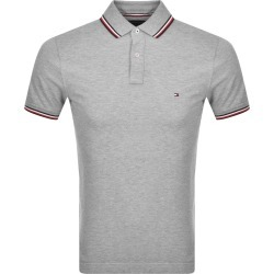 Tommy Hilfiger Tipped Slim Fit Polo T Shirt Grey found on Bargain Bro UK from Mainline Menswear