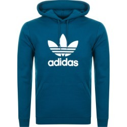 Adidas Originals Trefoil Hoodie Blue found on MODAPINS from Mainline Menswear for USD $69.25