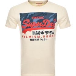 Superdry Vintage Logo T Shirt Cream found on Bargain Bro UK from Mainline Menswear