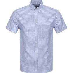 Les Deux Short Sleeved Ete Striped Shirt Navy found on Bargain Bro UK from Mainline Menswear