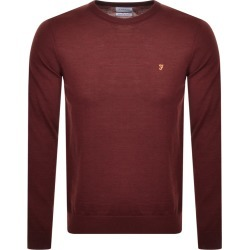 Farah Vintage Mullen Wool Jumper Burgundy found on MODAPINS from Mainline Menswear Australia for USD $104.34