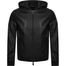 Armani Exchange Hooded Logo Jacket Black found on MODAPINS from Mainline Menswear Australia for USD $305.70