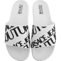 Versace Jeans Couture Logo Sliders White found on Bargain Bro UK from Mainline Menswear