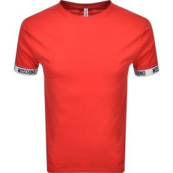 Moschino Logo Taped Cuff Short Sleeved T Shirt Red found on Bargain Bro UK from Mainline Menswear