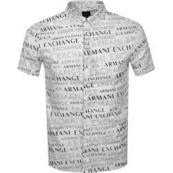 Armani Exchange Short Sleeved Shirt White found on Bargain Bro UK from Mainline Menswear