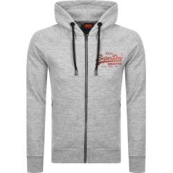 Superdry Vintage Logo Full Zip Hoodie Grey found on Bargain Bro UK from Mainline Menswear