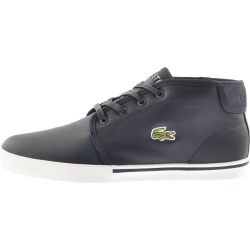 Lacoste Ampthill Mid Trainers Navy found on Bargain Bro UK from Mainline Menswear
