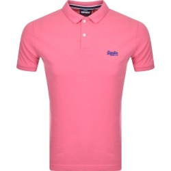 Superdry Classic Polo T Shirt Pink found on Bargain Bro UK from Mainline Menswear