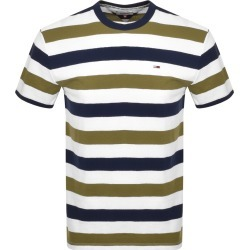 Tommy Jeans Stripe T Shirt Khaki found on Bargain Bro UK from Mainline Menswear