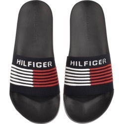 Tommy Hilfiger Woven Sliders Navy found on Bargain Bro UK from Mainline Menswear