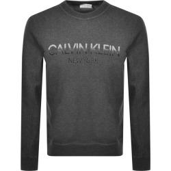 Calvin Klein Logo Crew Neck Sweatshirt Grey found on Bargain Bro UK from Mainline Menswear