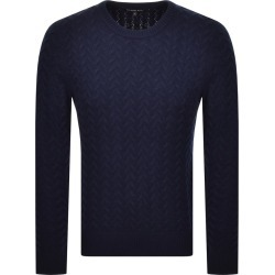 Michael Kors Crew Neck Cable Knit Jumper Navy found on Bargain Bro UK from Mainline Menswear