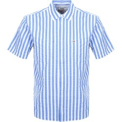 Tommy Jeans Short Sleeved Stripe Shirt Blue found on Bargain Bro UK from Mainline Menswear