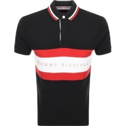 Tommy Hilfiger Stripe Logo Polo T Shirt Black found on Bargain Bro from Mainline Menswear for £68