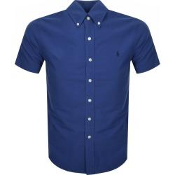 Ralph Lauren Short Sleeved Slim Fit Shirt Blue found on Bargain Bro UK from Mainline Menswear