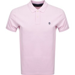 Timberland Logo Short Sleeved Polo T Shirt Pink found on Bargain Bro UK from Mainline Menswear
