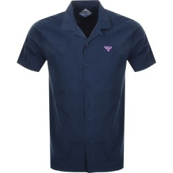 Barbour Beacon Short Sleeved Acton Shirt Navy