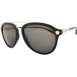 Versace Medusa Luxe Sunglasses Black found on Bargain Bro UK from Mainline Menswear