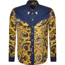 Versace Jeans Couture Gold Tip Denim Shirt Black found on Bargain Bro UK from Mainline Menswear