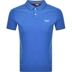 Superdry Classic Polo T Shirt Blue found on Bargain Bro UK from Mainline Menswear