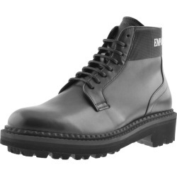 Emporio Armani Leather Boots Black found on Bargain Bro UK from Mainline Menswear