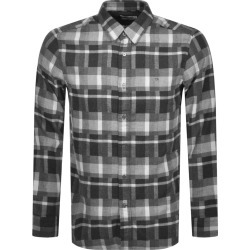 Calvin Klein Check Flannel Long Sleeved Shirt Grey found on Bargain Bro UK from Mainline Menswear