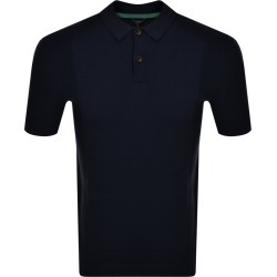Ted Baker Bump Knitted Polo Shirt Navy found on Bargain Bro UK from Mainline Menswear