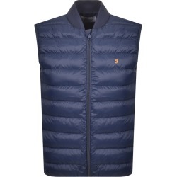 Farah Vintage Stanstall Quilted Gilet Navy found on MODAPINS from Mainline Menswear Australia for USD $108.37