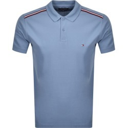 Tommy Hilfiger Shoulder Detail Polo T Shirt Blue found on Bargain Bro UK from Mainline Menswear