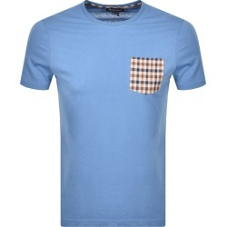 Aquascutum Sean Patch Pocket T Shirt Blue found on MODAPINS from Mainline Menswear Australia for USD $78.84