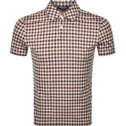 Aquascutum Andy Short Sleeve Polo T Shirt Brown found on MODAPINS from Mainline Menswear Australia for USD $121.01