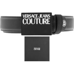 Versace Jeans Couture Leather Logo Belt Black found on Bargain Bro UK from Mainline Menswear