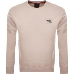 Alpha Industries Basic Small Logo Sweatshirt White found on MODAPINS from Mainline Menswear Australia for USD $84.15