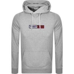 Tommy Jeans Embroidered Box Logo Hoodie Grey found on Bargain Bro UK from Mainline Menswear