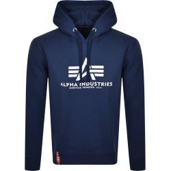 Alpha Industries Basic Hoodie Navy found on MODAPINS from Mainline Menswear Australia for USD $105.18