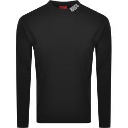 HUGO Dotch Long Sleeve T Shirt Black