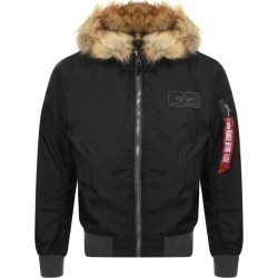 Alpha Industries MA1 Hooded Jacket Black found on MODAPINS from Mainline Menswear Australia for USD $301.52