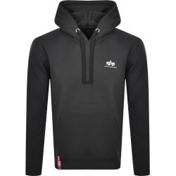 Alpha Industries Basic Small Logo Hoodie Grey found on MODAPINS from Mainline Menswear Australia for USD $105.18