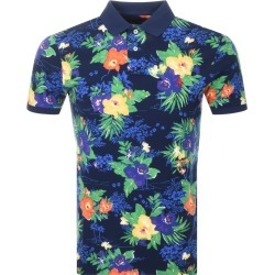 Ralph Lauren Slim Fit Floral Polo T Shirt Navy found on Bargain Bro UK from Mainline Menswear